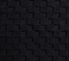 Luxurious linenHall, 850gsm 100% Cotton Reversible Bath Mat in Black